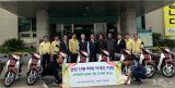 한국교회봉사단 산불피해주민을 위해 총1억원상당 오토바이 전달