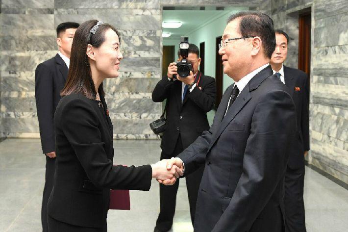 """靑 """"北, 조의문 전달에 김여정 보낸 것 주목해야"""""""