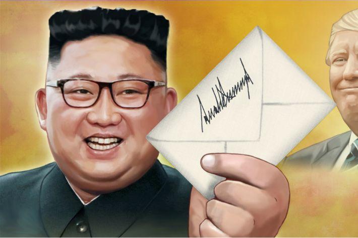 """트럼프 """"김정은과 매우 우호적 친서 주고받아…매우 좋은 관계 갖고있어"""""""