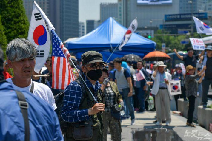 """박원순 """"애국당, 폭력적 집단 만천하에 드러나"""""""