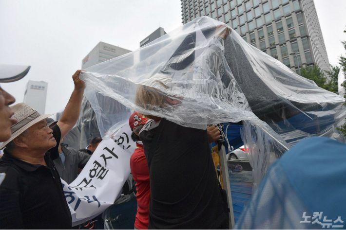 우리공화당, 트럼프 방한 기간 '광화문 천막' 일시 이동 조치