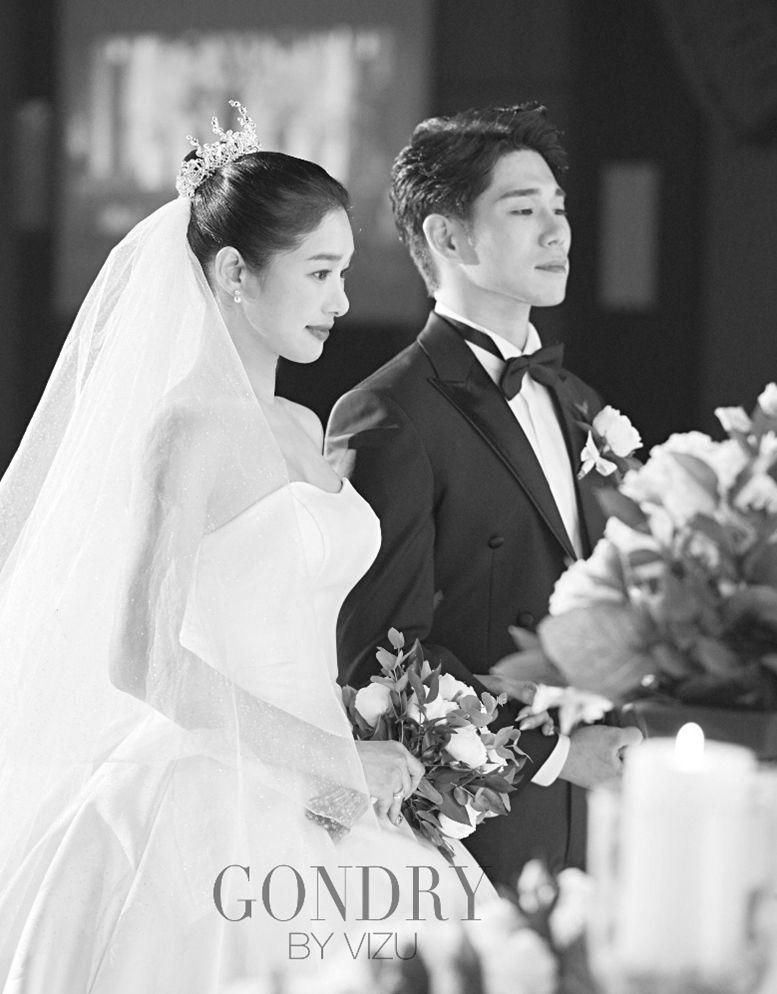 [화보] 선우선♥이수민, 결혼식 본식 사진 공개