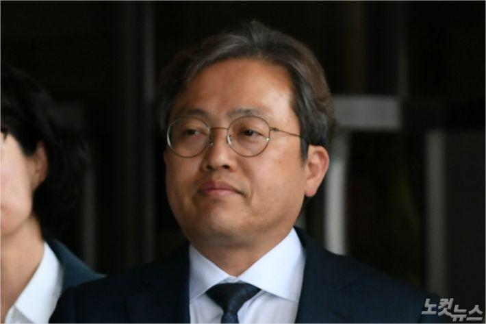 """경찰 출석한 송기헌 """"자유한국당 의원이 법 위에 있나"""""""