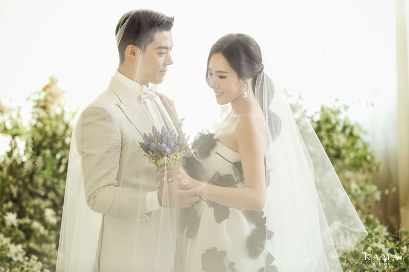 [화보] 이상화♥강남, 결혼식 전 웨딩 화보 미리 공개