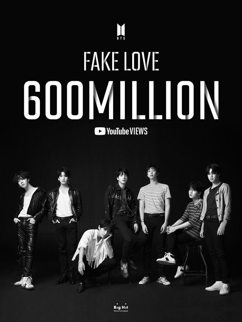 기록제조기 방탄소년단, 'FAKE LOVE'도 6억 뷰 돌파