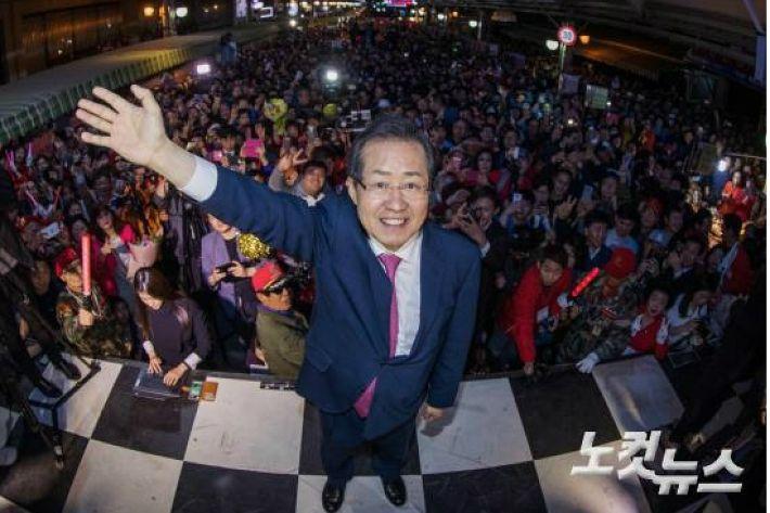 대구 서문시장 찾는 홍준표…TK 출마 굳혔나?