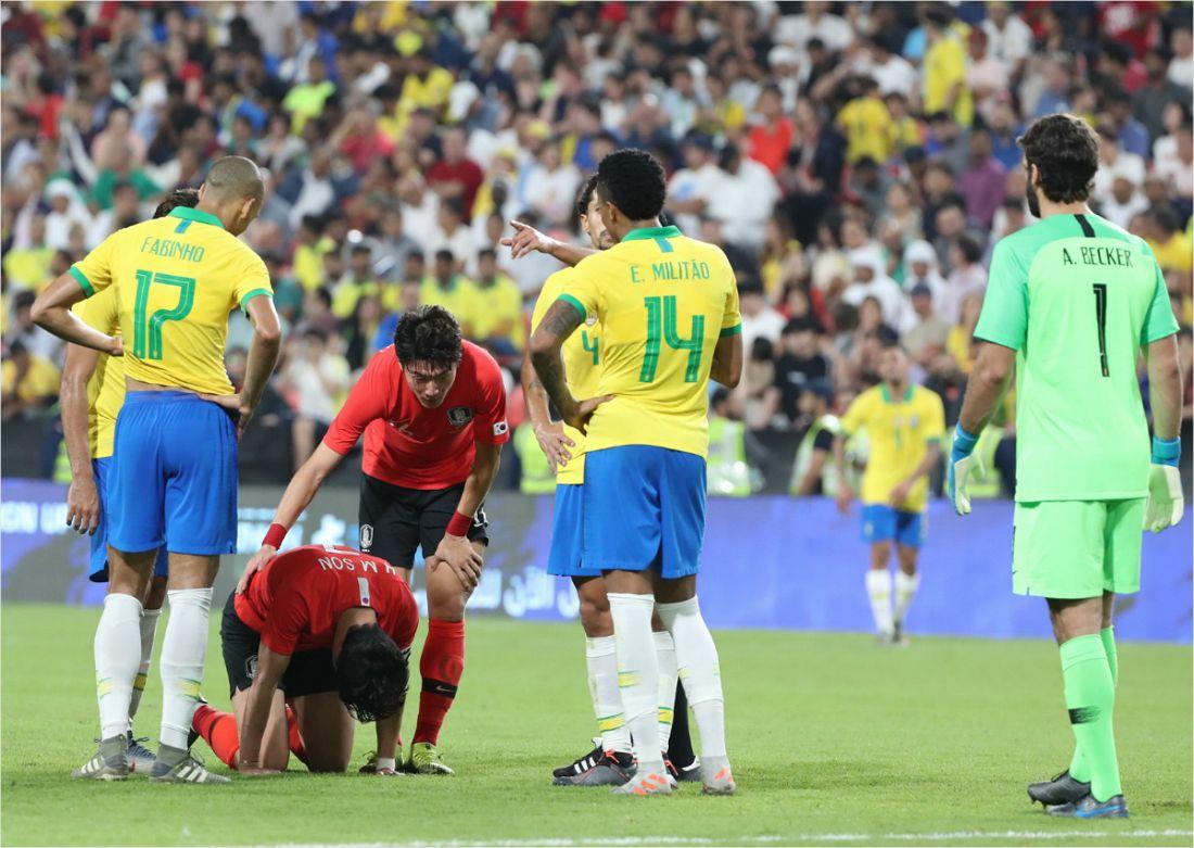 '브라질의 벽은 높았다' 벤투호, 0-3으로 눈물