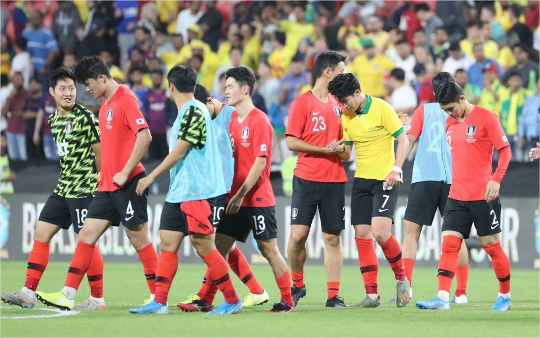 '졌지만 잘 싸웠다' 벤투호와 브라질의 차이는 집중력