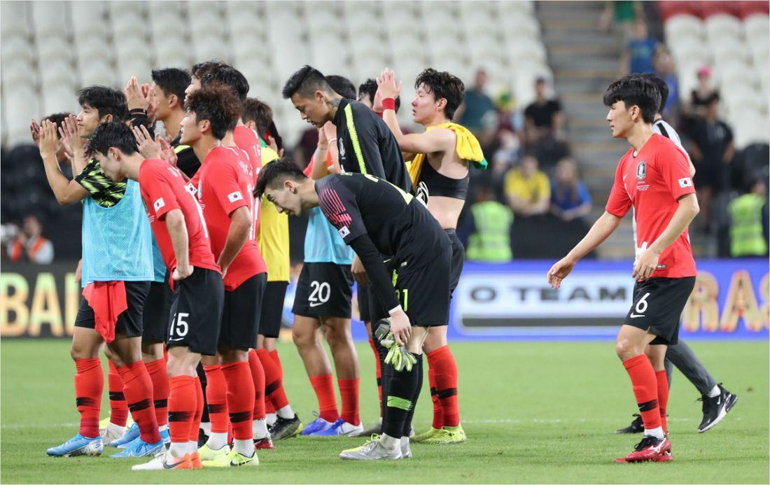韓 축구, WC 2차예선 H조 2위로 2019년 마무리