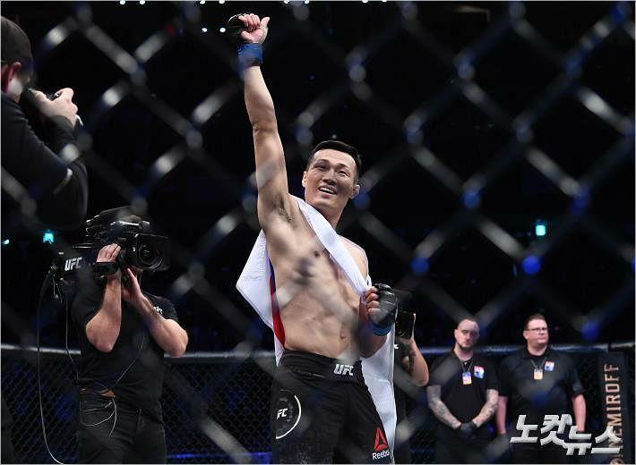 """에드가 KO로 꺾은 정찬성 """"타이틀 도전권 달라"""""""