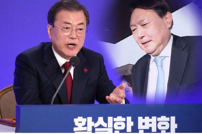 """문 대통령, 윤석열 총장에게 엄중 경고 """"인사 프로세스 역행""""(종합)"""