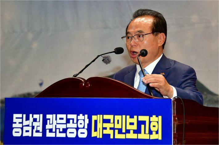 """오거돈 """"동남권 신공항, 총선 전에 결과 나와야"""""""