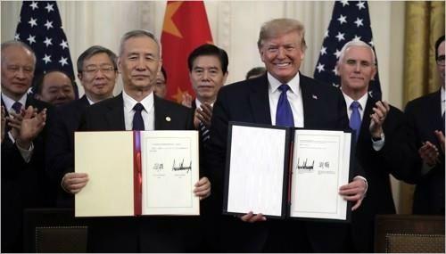 """트럼프 """"중국과 2단계 협상시작 아주 좋은 위치"""" 성과 자찬"""