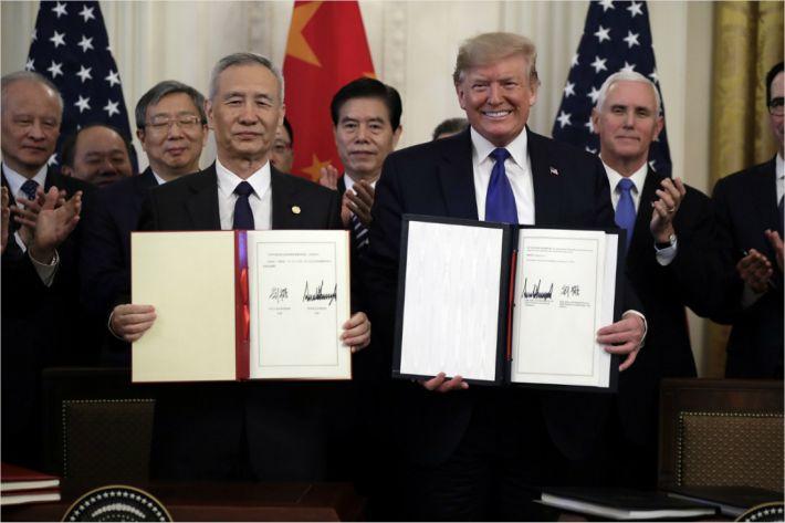 中에서 '미국과 무역합의 연기론' 모락모락