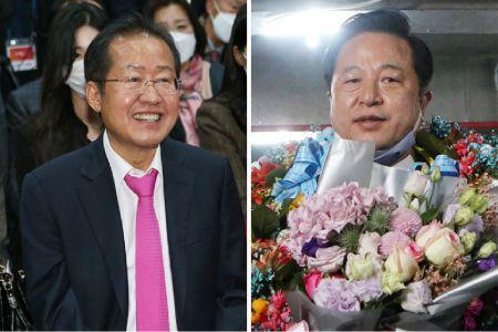 출구조사 개표결과 뒤집힌 13곳…홍준표·김두관 진땀승