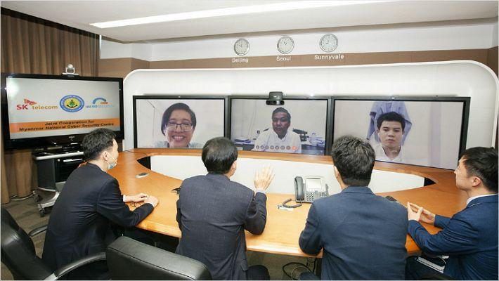 """SKT, 미얀마 정부에 보안기술 수출…""""'51조' 亞보안시장 열려"""""""