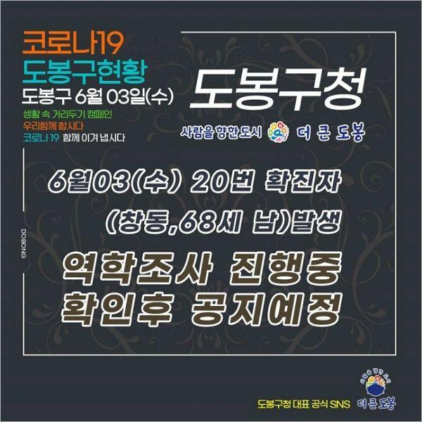 도봉구서 창동거주 60대 남성  확진…역학조사 중