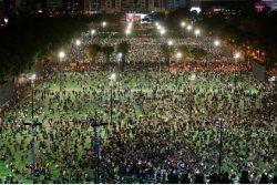 """""""텐안먼 잊지 않겠다"""" 홍콩 6·4 기념집회 사수"""