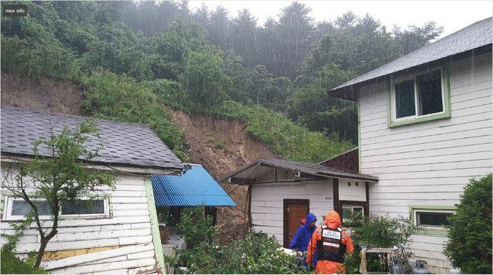 강원 동해안 285mm '폭우'…토사 유출·침수·고립 피해 속출