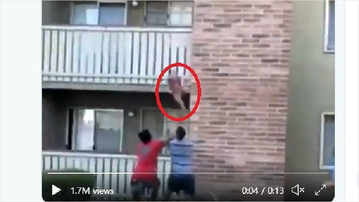 불타는 아파트서 떨어진 아이…전 미식축구 선수가 몸던져 구조