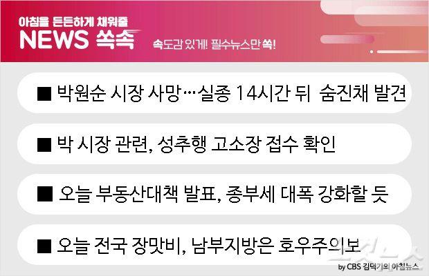 [뉴스쏙:속] 박원순 시장 사망…빈소는 서울대병원