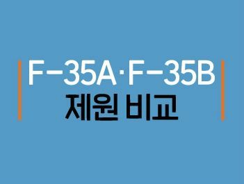 [그래픽뉴스]차세대전투기 F-35A? F-35B? 제원 비교