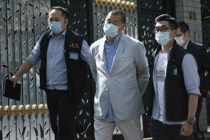 홍콩 반중매체 빈과일보 사주 지미 라이 보석 석방(종합)