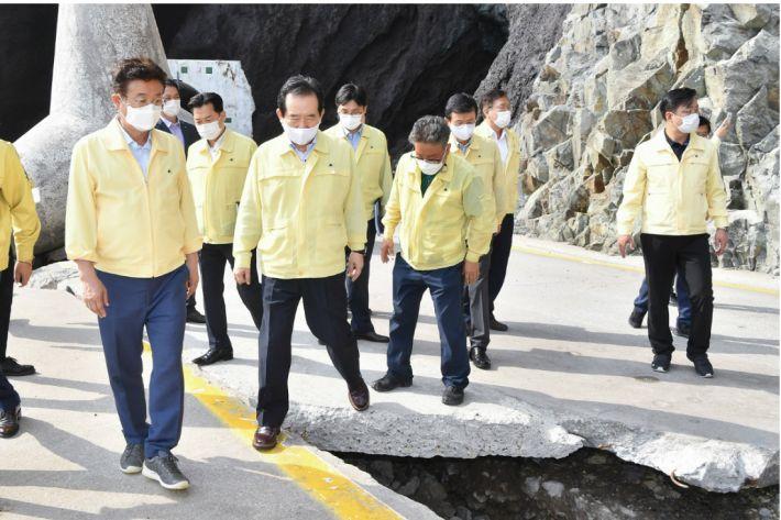 태풍피해 울릉·울진·영덕군 특별재난지역 선포