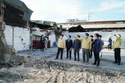 화마 덮친 청량리 전통시장 복구 '구슬땀'…동대문구 재난지원