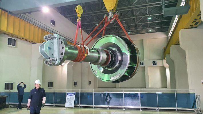 국내 최대 용량 수력발전 핵심 부품, 100% 국산화 성공