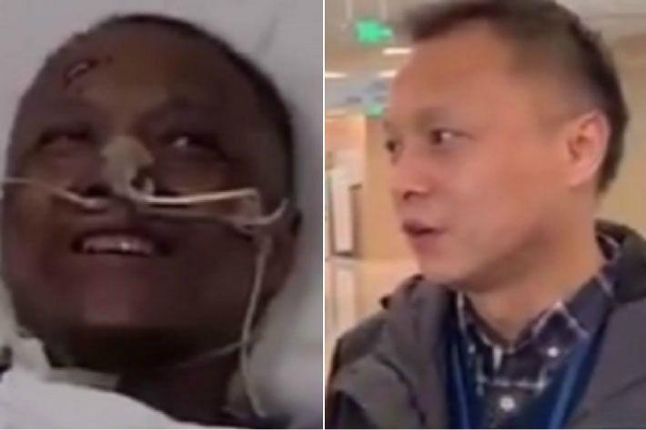 코로나 이후 얼굴 검게 변했던 中의사 '정상 회복'