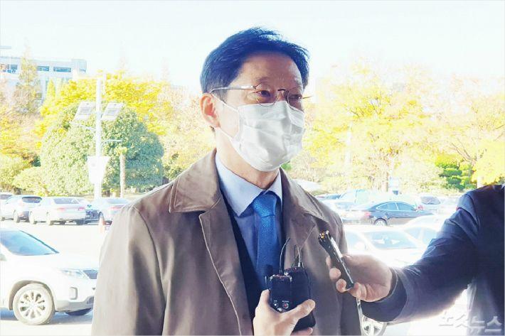 """김경수 """"진실과 거짓의 싸움, 대법원에서 밝혀질 것"""""""