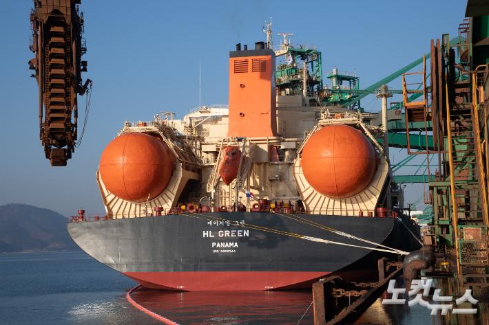 광양제철소, LNG 추진 대형 벌크선 '세계 최초' 운항