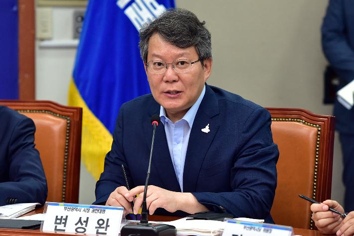 변성완 권한대행 사퇴, 부산시장 보궐선거 본격 채비 나서