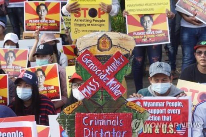 유엔, 미얀마 군정의 시민 탄압 '심각한 결과' 경고