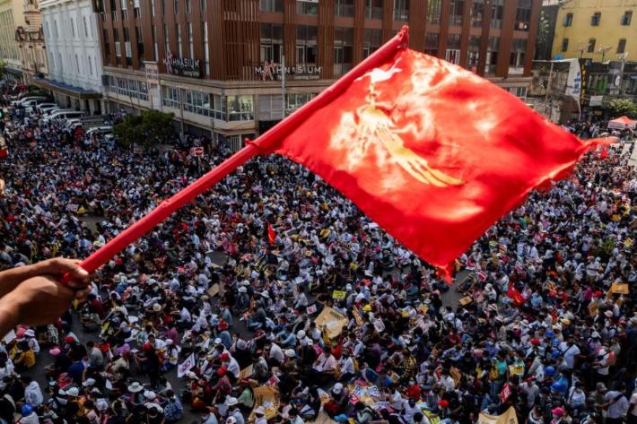 '미얀마 군정 반대' 체포된 시민 500명 육박