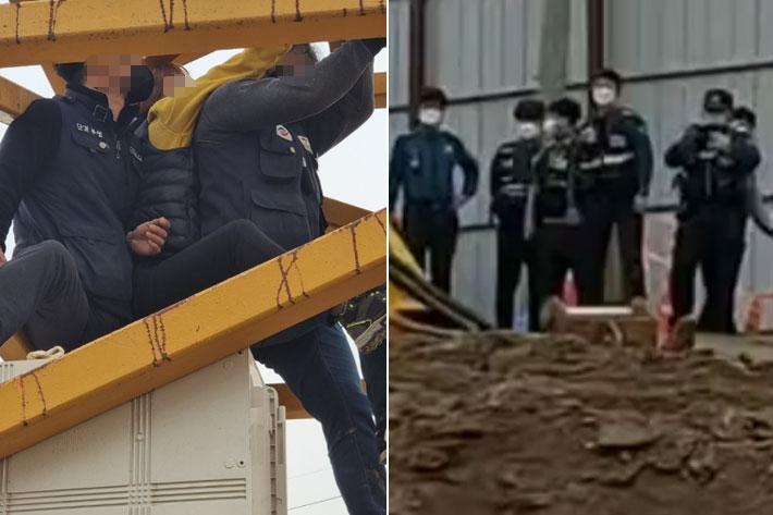 [이슈시개]女노동자는 왜 7m 타워크레인에 매달렸나