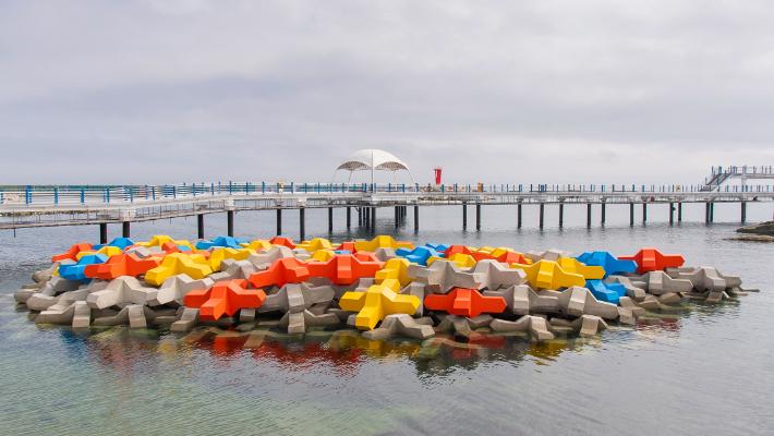 강원 고성군, 대진항 배수시설 개선…시각적 효과도