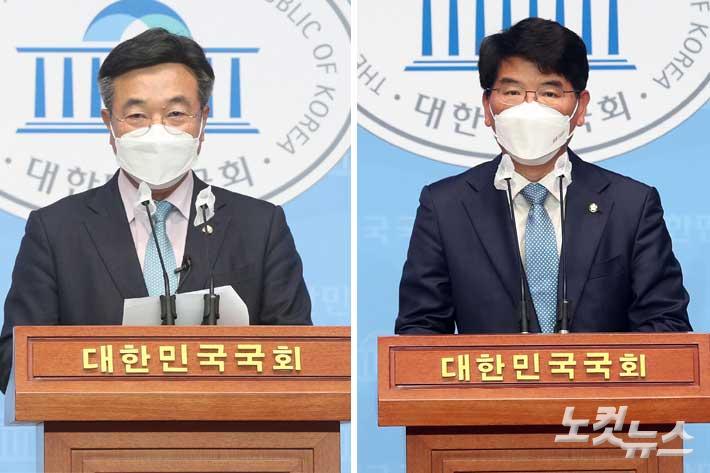 [영상]與 원대 경선 '친문' 윤호중 vs '86' 박완주…위기해법 달랐다