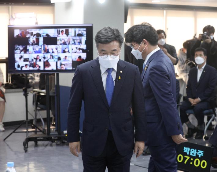 """[노컷브이]윤호중·박완주 """"조국 사태 불공정"""" 동의하면서도 온도차"""