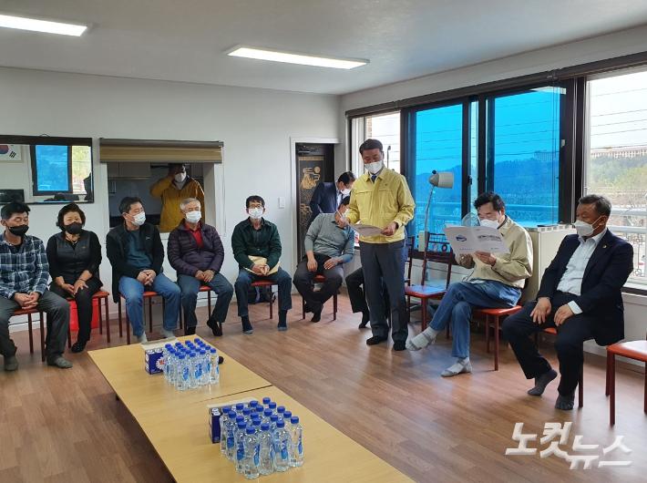 고성 다시 찾은 이낙연 전 대표…이재민 '구상권 청구' 성토