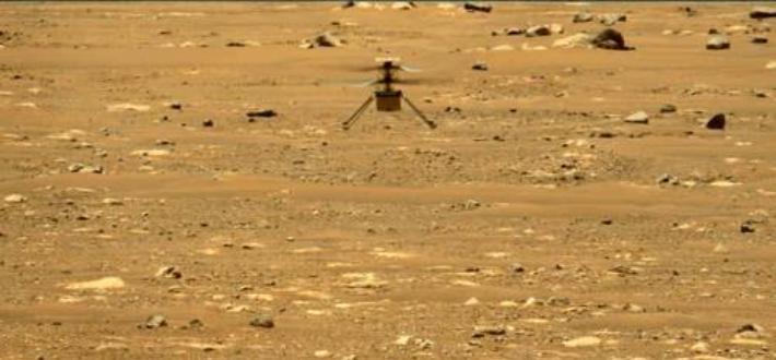 화성 헬기 2차 비행 성공…52초 동안 5m 높이