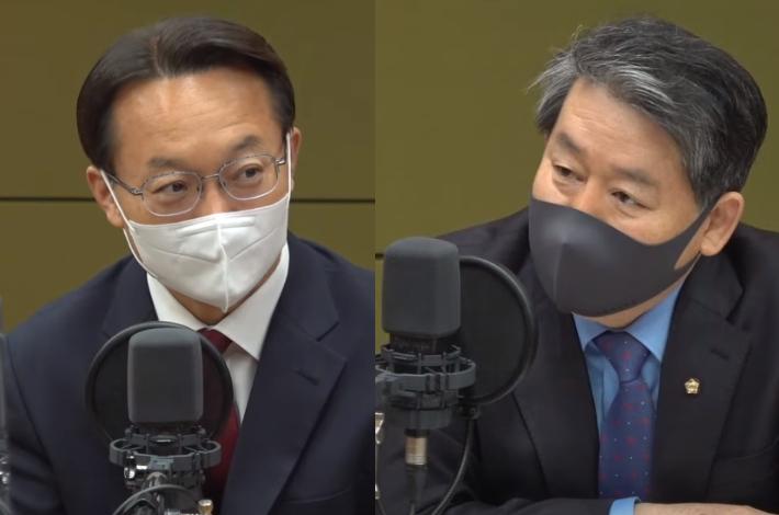 """김경협 """"文정부 4년, 80점""""vs조해진 """"20%대 지지율 보라"""""""