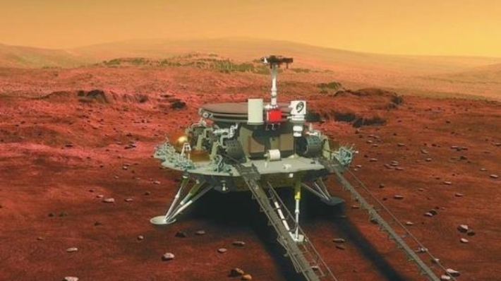화성 착륙 '공포의 9분' 통과한 中 탐사선…우주굴기 한발 더