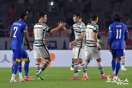 대한민국, 스리라카 5대 0 승리