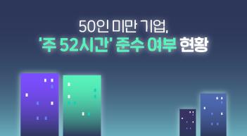 50인 미만 기업 '52시간제' 어디까지 왔나[그래픽뉴스]