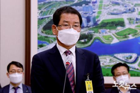 광주 건물붕괴 사건 관련 발언하는 권순호 HDC현대산업개발 대표이사