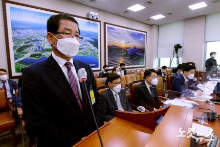 국회 국토위 출석한 권순호 HDC현대산업개발 대표이사