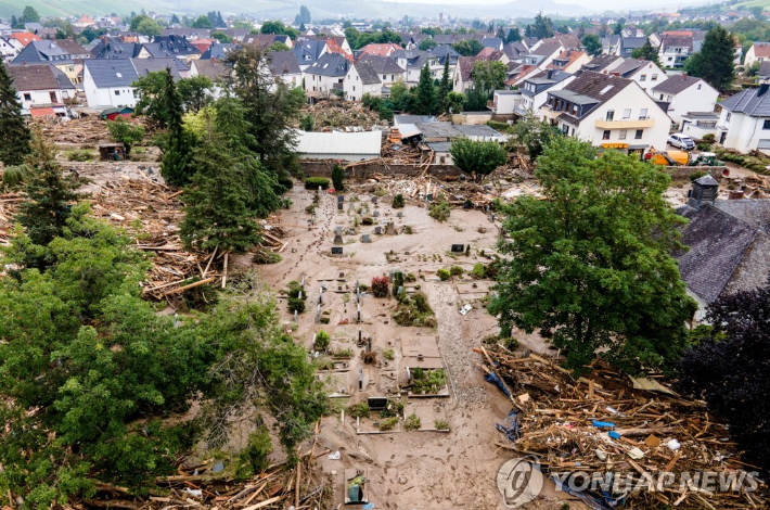 홍수 피해를 입은 독일