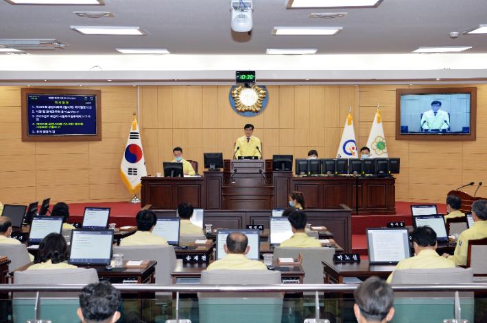 광양시의회, 추경안 처리 위해 하루 만에 원 포인트 임시회